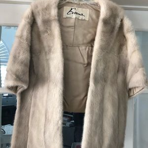 Champagne  open front mink jacket